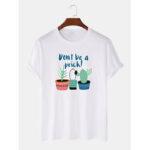 Оригинал              Мужская повседневная футболка с коротким рукавом из 100% хлопка с кактусом