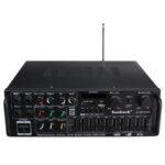 Оригинал              Sunbuck 326BT Bluetooth 1200 Вт 110 В Цифровой Усилитель HIFI-H Стерео Домашний кинотеатр Усилитель 2 канала Приемник MP3 USB SD AUX AV FM Радио с Дистанционное Упра