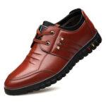 Оригинал              Мужская повседневная кожаная обувь из микрофибры Soft Sole Non Slip