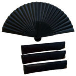 Оригинал              38 х 21 см складной вентилятор черный Винтаж ручной вентилятор ручной вентилятор китайский стиль для На открытом воздухе путешествия Свадеб