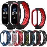 Оригинал              Bakeey Double Color Силиконовый Ремешок для часов Xiaomi mi band 5 Smart Watch