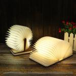 Оригинал              Портативная перезаряжаемая LED деревянная книга форма стола Лампа Night Light