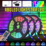 Оригинал              32FT 15M RGB LED Strip Light 3528 Водонепроницаемы / Non-водонепроницаемый Гибкая лента Лампа DC12V + 44 Ключи Дистанционное Управление + Блок питания