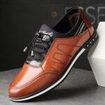 Оригинал              Мужская повседневная обувь из микрофибры с кожаной отделкой