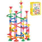 Оригинал              105 / 109Pcs DIY Строительный шарик Строительные блоки 3D Stereo Maze Track Race Run для детей подарок