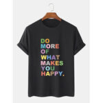 Оригинал              100% хлопок Colorful Дышащие футболки с коротким рукавом с надписью и принтом