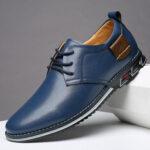 Оригинал              Мужская повседневная обувь Pure Color из микрофибры