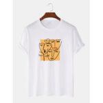 Оригинал              100% хлопок граффити принт дышащий круглые Шея футболки с коротким рукавом