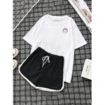 Оригинал              Женский пижамный комплект с изображением котов и пижам со спортивными шортами