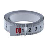 Оригинал              Самоклеющаяся метрическая линейка шириной 16 мм Трековая измерительная лента для резки стали Стальная торцовочная пила Шкала Для фрезерно