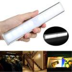 Оригинал              10 LED Motion Датчик Шкаф-купе Беспроводной ночной шкафчик Батарея с питанием в помещении