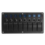 Оригинал              8 Gang Водонепроницаемы Авто Авто Лодка Marine LED Кулисный выключатель панели Автоматические выключатели