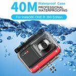 Оригинал              TELESIN 40M Водонепроницаемы Защитный кожух Подводный дайвинг Чехол Протектор для Insta360 ONE R 360 Edition FPV камера