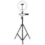 Оригинал              26см LED Кольцевая подсветка для Youtube Прямая трансляция Tiktok Broadcast 10 Яркость с регулируемой яркостью 2800-6500K Макияж Заполняющий свет с подставко