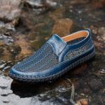 Оригинал              Мужская сетчатая ткань Comfy Non Slip Soft Подошва На открытом воздухе Повседневная обувь