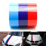 Оригинал              60inch M Цветные полосы Rally Side Hood Racing Motorsport Наклейка с наклейками для BMW