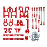 Оригинал              Feiyue FY-03 06 WLtoys 12428 Desert Vendor Набор Комплектующие для полного обновления 1/12 Rc Авто Запчасти Красный