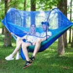 Оригинал              Гамак двухместный с москитной сеткой 70D Nylon Качели На открытом воздухе Кемпинг Travel