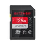 Оригинал              BlitzWolf®BW-SDC1 UHS-II Карта памяти SD U3 C10 V90 32GB 64GB Карта памяти 128 ГБ для MILC SLR камера Driving Recorder