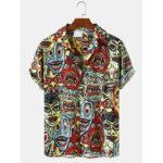 Оригинал              Мужские повседневные рубашки с короткими рукавами и рисунком клоуна