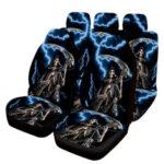 Оригинал              Полный комплект на 5 мест Авто Чехлы на сиденья из искусственной кожи для внутренних аксессуаров