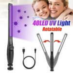 Оригинал              USB 40LED Портативный ультрафиолетовый стерилизатор Light Handheld UV Дезинфекция Лампа