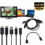 Оригинал              Mini 1080P MHL Micro USB to HDMI Cable Converter Адаптер для телефона / ПК / ТВ Аудиоадаптер Android Адаптер HDTV