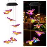 Оригинал              Изменение цвета LED Солнечная Свет На открытом воздухе Колибри Ветер Колокольчик Лампа Двор Сад Декор