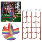 Оригинал              145×185см Радуга Nylon Восхождение Доставка Сетка для детей На открытом воздухе Playsets Спортивная подготовка