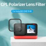 Оригинал              Поляризационный фильтр TELESIN CPL Объектив 2-стороннее антибликовое покрытие для Insta360 ONE R 4K Action камера