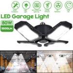 Оригинал              E27 / E26 80 Вт LED Гараж Лампы Деформируемый Потолочный Светильник Магазин Мастерская Лампа