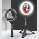 Оригинал              Bakeey L07 Bluetooth Selfie Ring Fill Light Беспроводное управление с затемнением камера Телефонный звонок Лампа С подставкой Штатив для Макияж Видео Vlog Live