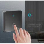 Оригинал              CACAZI H86 Беспроводной дверной звонок Водонепроницаемы 300M Дистанционный 1 2 Батарея Кнопка 1 2 3 Приемник Кольцо для домашнего звонка Колокольч