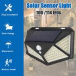Оригинал              1PC / 2PCS LED Солнечная Свет 3 режима На открытом воздухе Водонепроницаемы Движение Датчик Стена Лампа для улицы Сад