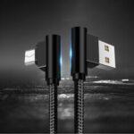 Оригинал              SUNTAIHO Кабель для передачи данных 3A Double Elbow USB Type-C 2.1A Micro USB Зарядная линия Быстрая зарядка для Xiaomi MI10 Redmi Note 9S S20 Oneplus 8Pro