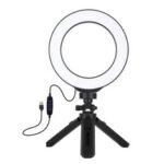 Оригинал              Световое кольцо Led Лампа с треногой 3 цвета Телескопические штативы Вспышки Selfie Lights для iPhone Xiaomi Huawei
