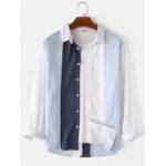 Оригинал              Рубашки мужские из 100% хлопка с отложным воротником