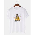 Оригинал              Симпатичные Астронавт с принтом дышащие футболки с коротким рукавом из 100% хлопка