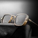 Оригинал              Мужские солнцезащитные очки с металлическим каркасом и ретро-оправой На открытом воздухе
