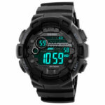 Оригинал              SKMEI 1243 Мода Световой Дисплей Chrono Alarm Countdown Мужские Часы Dual Дисплей Цифровые Часы