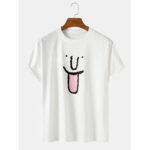 Оригинал              Симпатичное граффити-выражение Шаблон Круглые Шея хлопчатобумажные футболки с дышащим рукавом