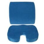 Оригинал              Memory Foam Home Авто Подушка сиденья Поясничная спинка Поддержка Ортопедический стул для офиса Коврик для сиденья