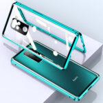 Оригинал              Bakeey для Xiaomi Redmi Note 9/Redmi 10X 4G Чехол 2 в 1 с Объектив протектором Магнитный флип Двухстороннее закаленное стекло Металл Защитная крышка Чехол