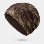 Оригинал              вязание спицами кепки для цветов с тиснением