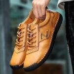Оригинал              Мужская ручная строчка из кожи Soft подошва без скольжения повседневная обувь
