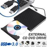 Оригинал              Тонкий внешний USB 3.0 DVD RW CD-привод для записи дисков для чтения портативных ПК *