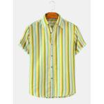 Оригинал              Мужские рубашки с короткими рукавами и воротником в вертикальном стиле