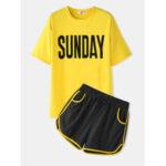 Оригинал              Женская спортивная одежда для отдыха с буквами с коротким рукавом Comfy Pyjamas