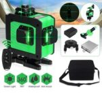 Оригинал              12 Линия 360 Горизонтальный Вертикальный Крест 3D Зеленый Свет Лазер Уровень Самовыравнивающийся Мера Супер Мощный Лазер Луч