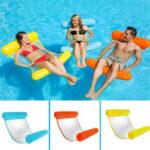 Оригинал              Клип Чистый гамак Складная надувная спинка Плавающая кровать Ряд воды Play Lounge Chair